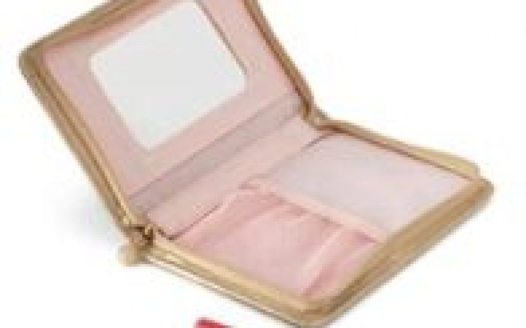 Mary Kay Giveaway:  Gold Beauty Case with Lip Gloss