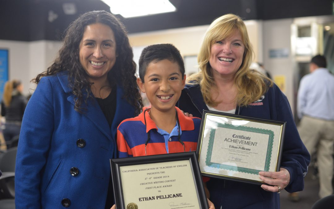 My Young Writer:  Ethan's Winning California Essay